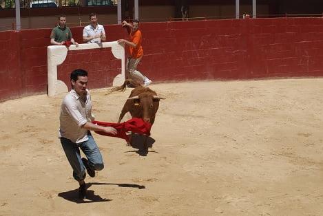 Madrid bull running